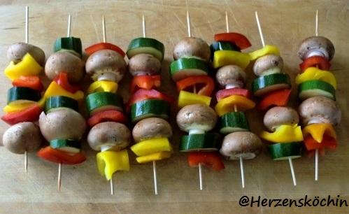 vegetarische Barbecue-Spieße