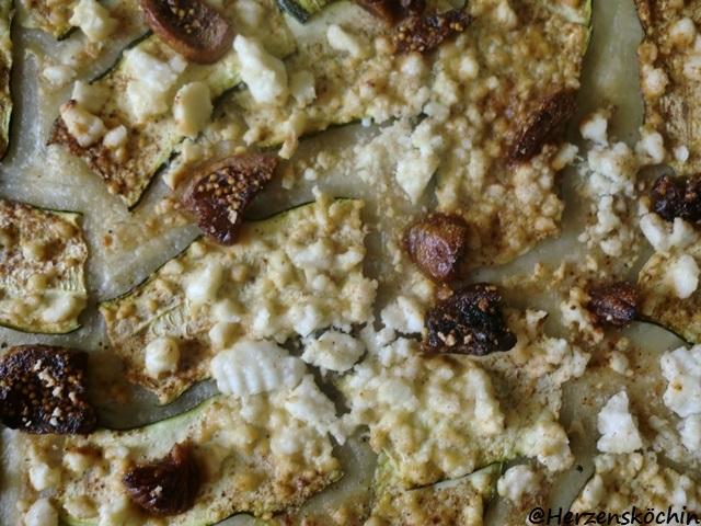 Zucchini Feigen Ziegenkäse Tarte