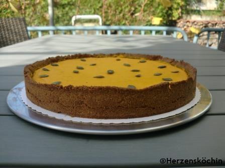 Kürbis Kuchen mit Zitrone