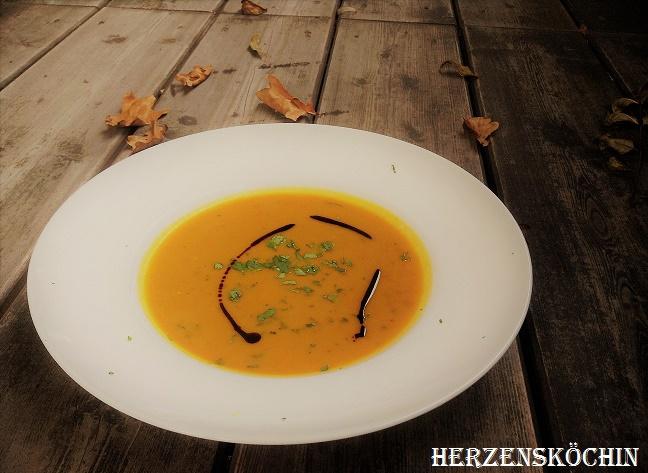 Kürbis Koriander Suppe