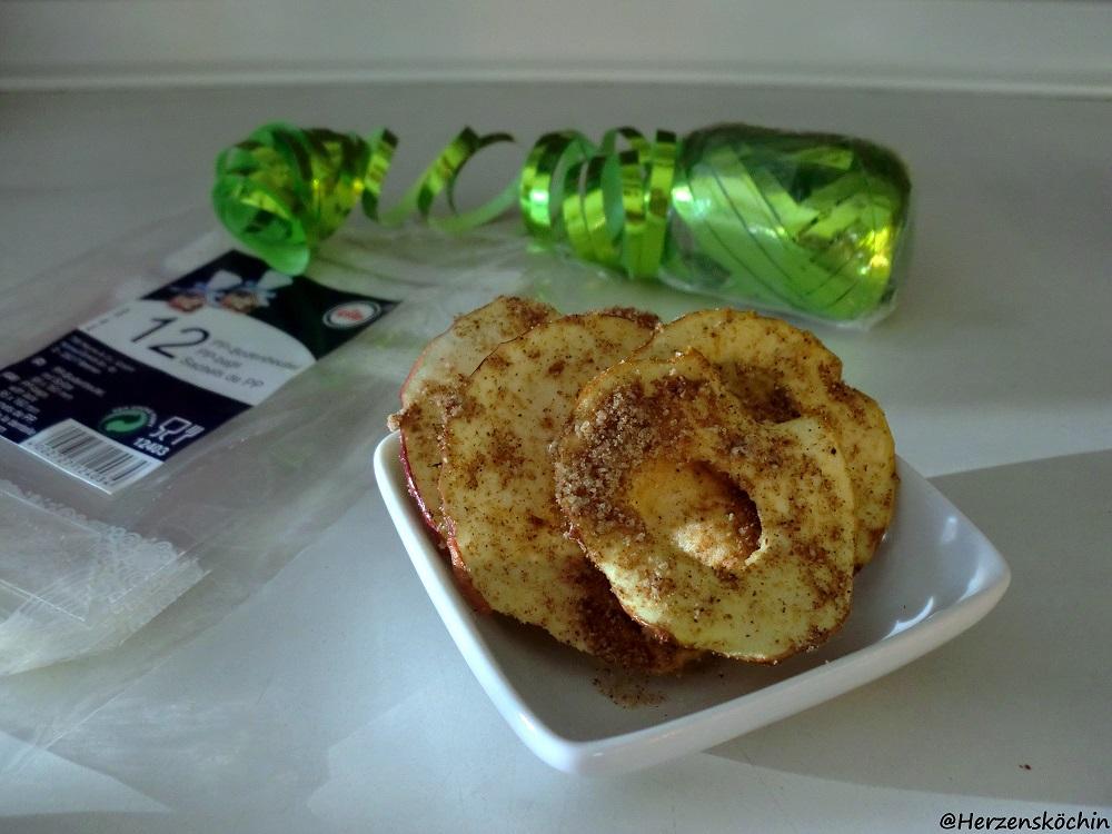 knusprige Bratapfel Chips