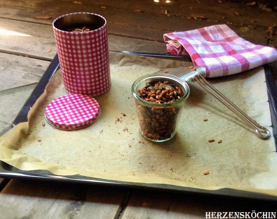Geröstete Ölsaaten mit Zimt und Vanille