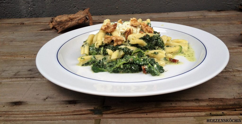 Spinat-Ricotta-Pasta (