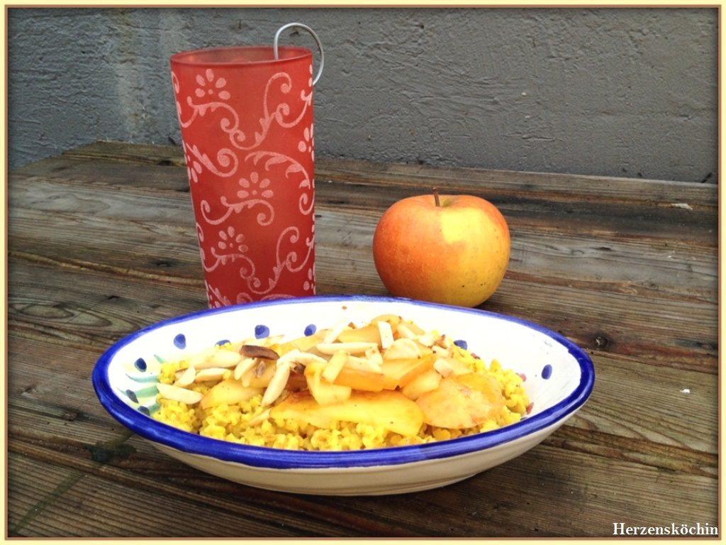 Bulgur mit gebratenen Äpfel