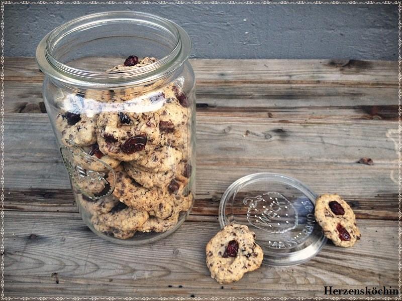 Cranberry-Vanille-Schokoladen-Cookies