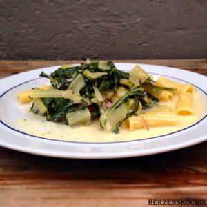 Mangold-Pasta vegan
