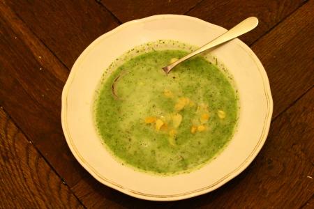vegane Brokkolicremesuppe