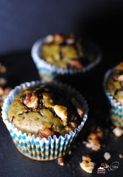 Matcha-Nuss-Muffins
