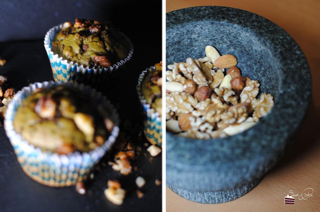 Matcha-Nuss-Muffin