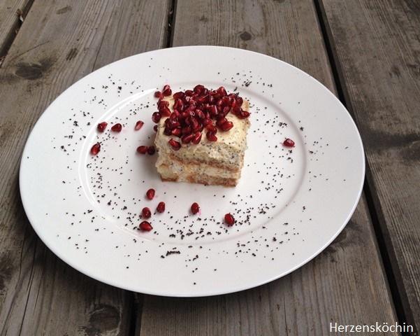 Mohn Granatapfel Tiramisu