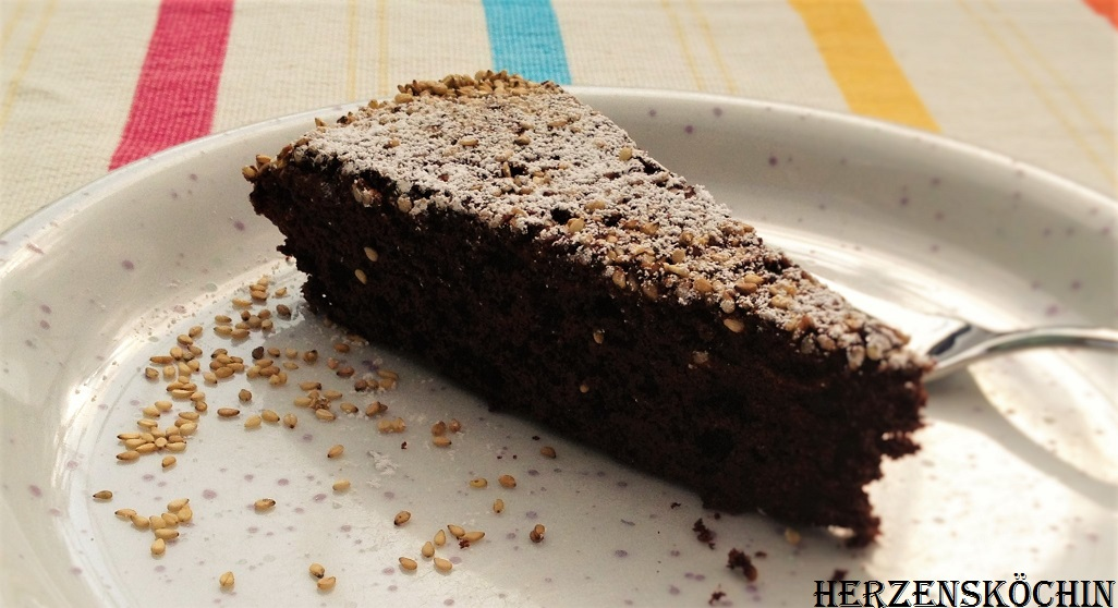 Sesam Schokoladen Vanille Cake Herzenskochin