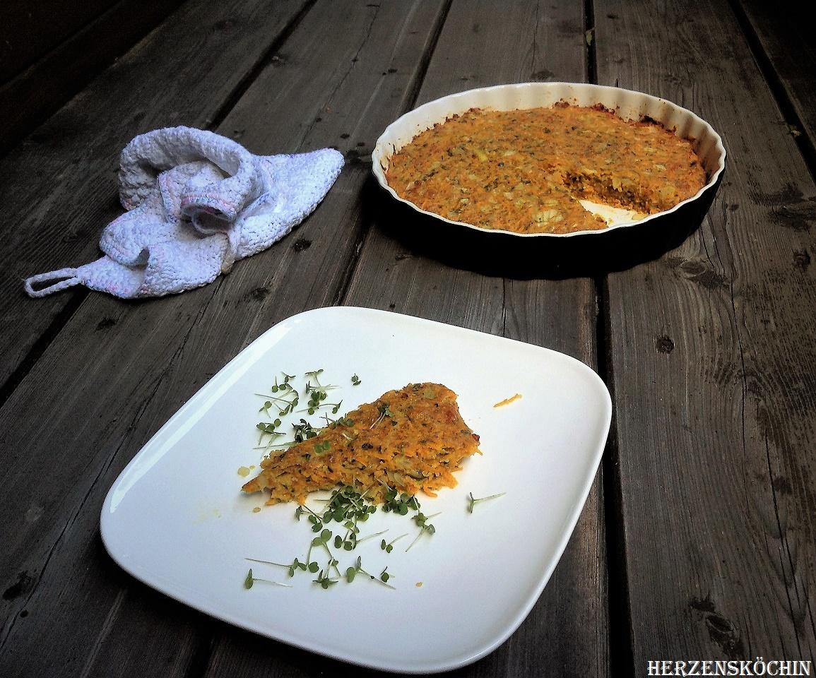 Möhren-Kräuter-Tarte