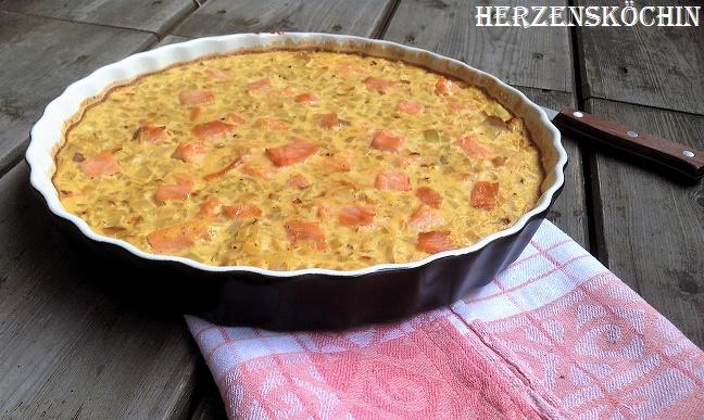 Zwiebel-Lachs-Tarte