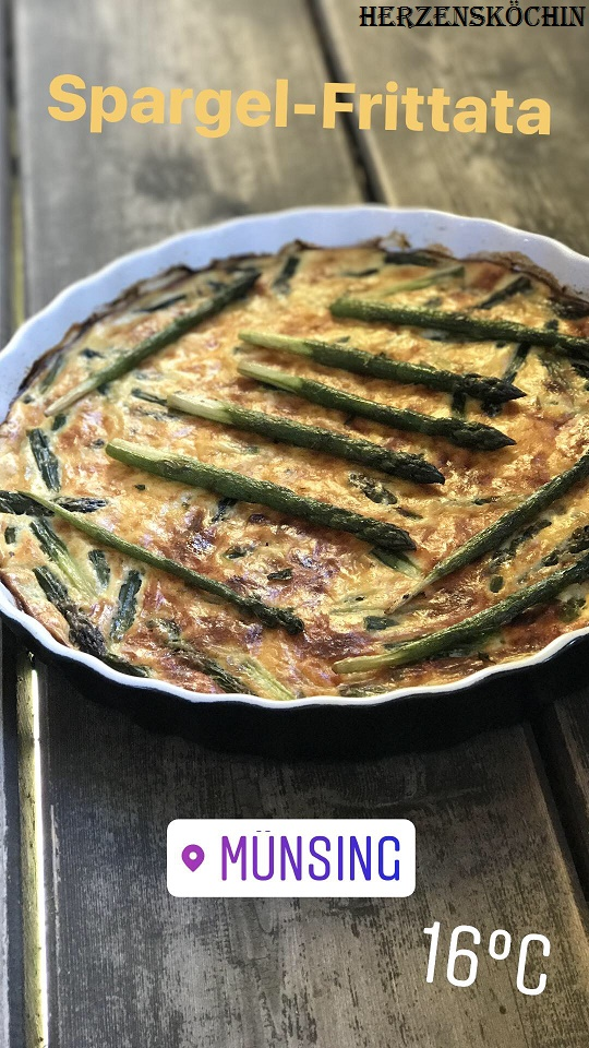 Low Carb Grüne Spargel Frittata