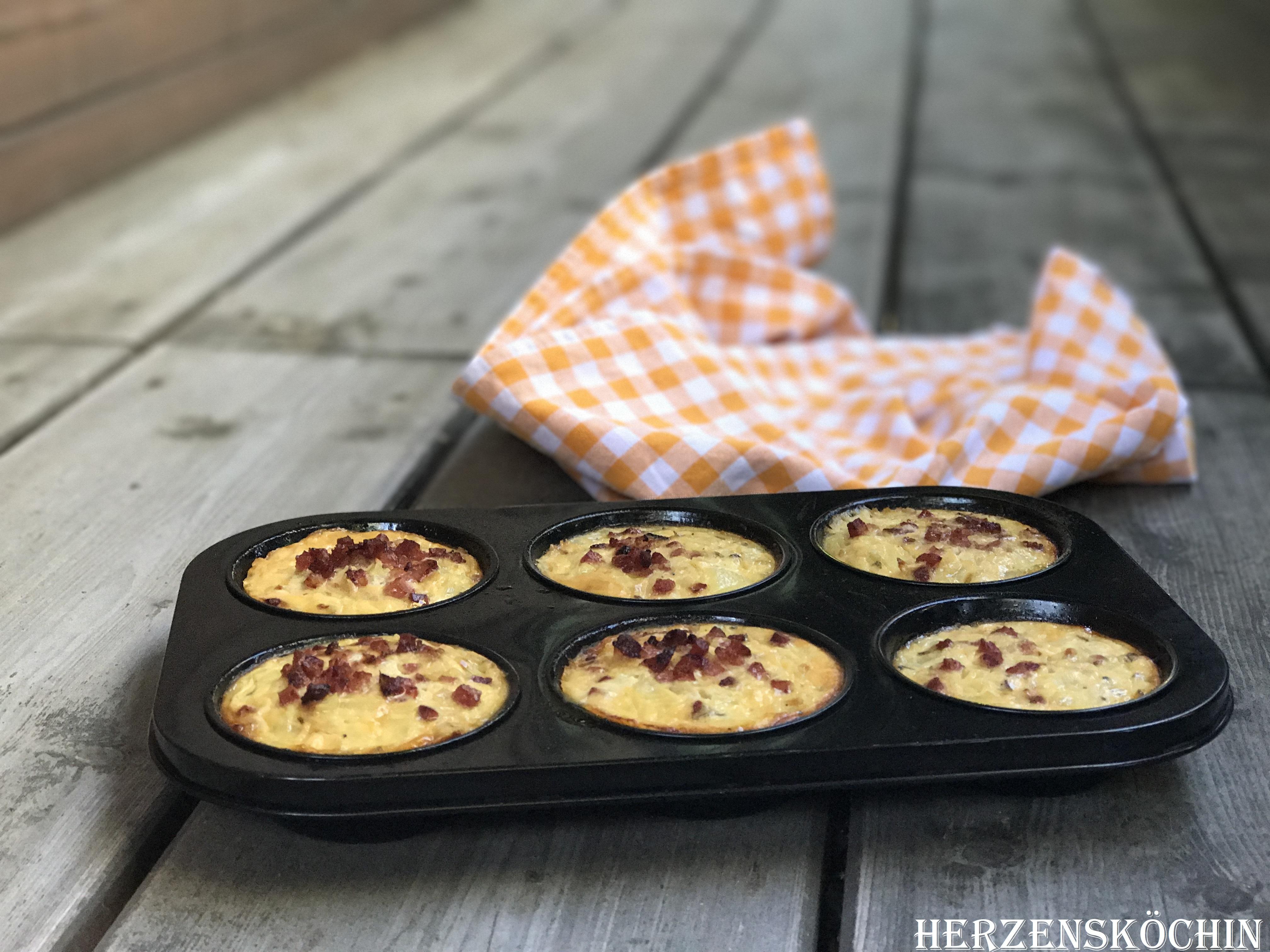 Low Carb Zwiebelkuchen Muffin