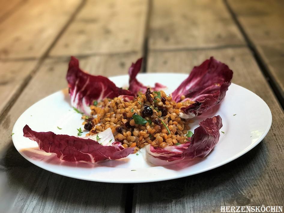 Rote Linsen Salat