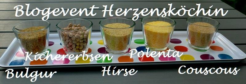 """Zusammenfassung vom Blogevent """"Kichererbsen, Polenta, Hirse und Couscous"""""""